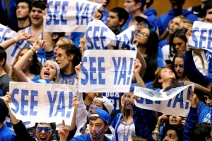 Cameron Crazies With Terps Farewell