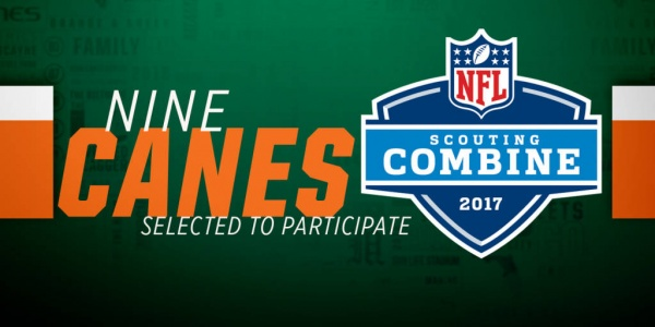 Nine Former Hurricane Football Players Headed to the NFL Scouting Combine