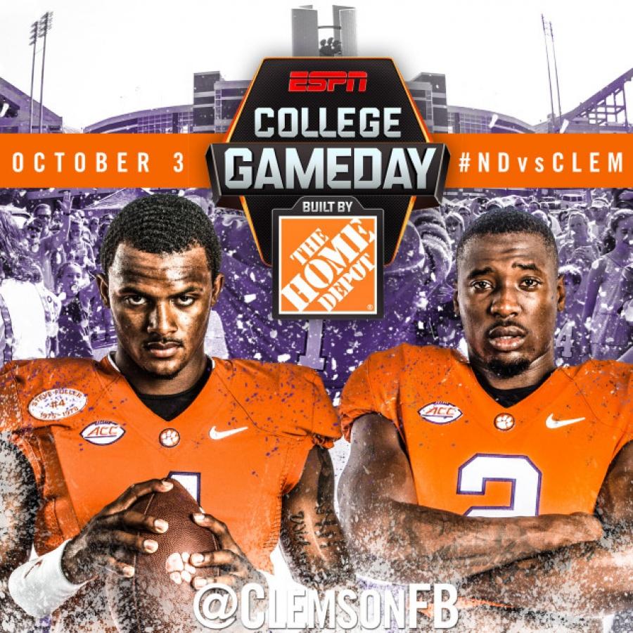 clemson football espn college football gameday schedule