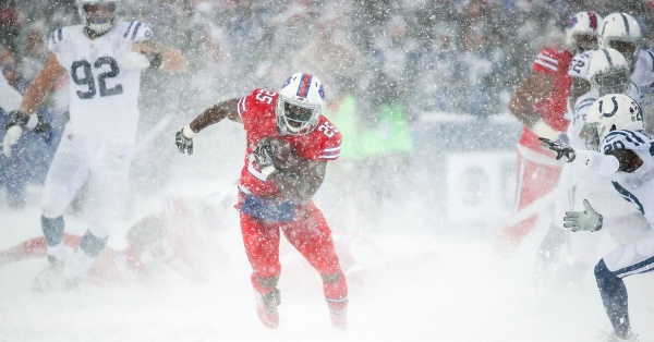 LeSean McCoy racks up 156 yards in a blizzard