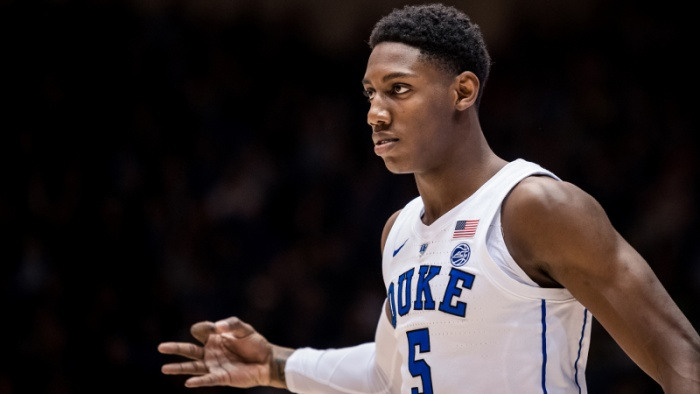 Barrett Leads No. 3 Duke to 113-49 Rout of Stetson