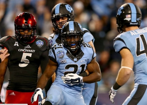 Tar Heels Pound the Bearcats 39 -17
