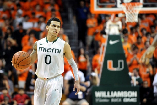 Shane Larkin is projected as a mid-to-late first round pick in the NBA draft