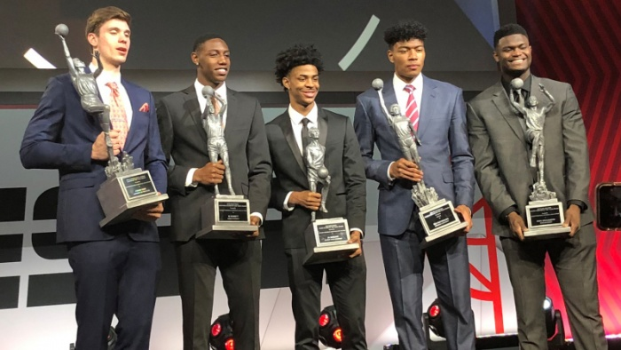 RJ, Zion Honored at College Basketball Awards Show